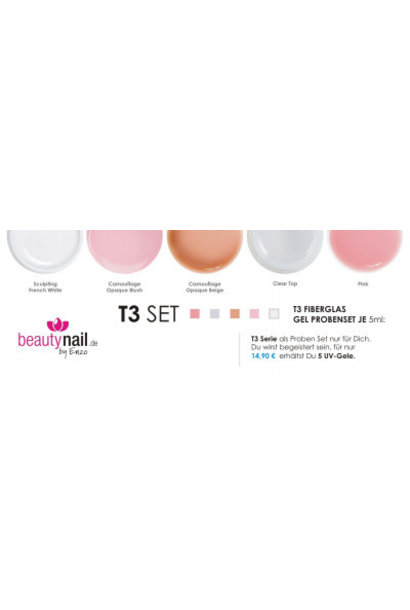 Testers Set 5x 5ml | T3 Fiberglas Gel
