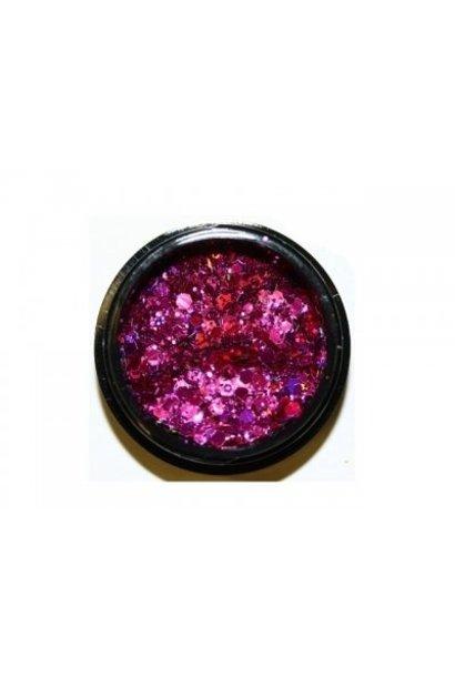 Hexagon Mix Dark Pink
