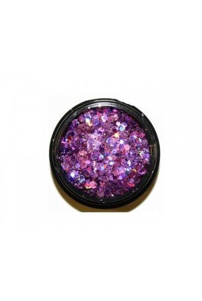 Hexagon Mix Metallic Violett - BeautyNail