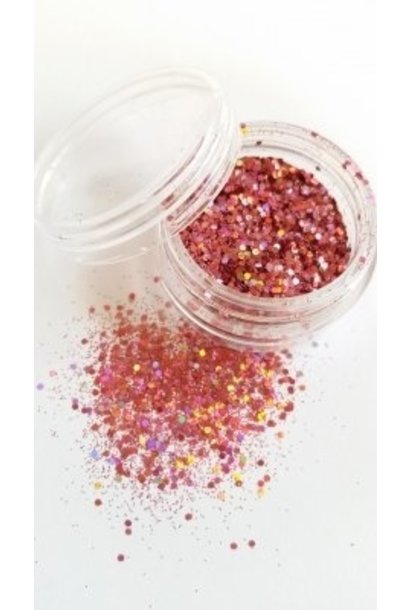 Illusion Glitter Multi Rosa