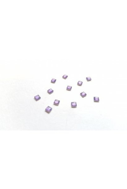 Pearl Quadrat Lila 10 Stück