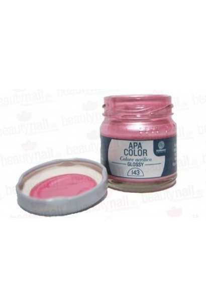 Acrylfarbe APA Color Metallrosa von Ferrario 40ml
