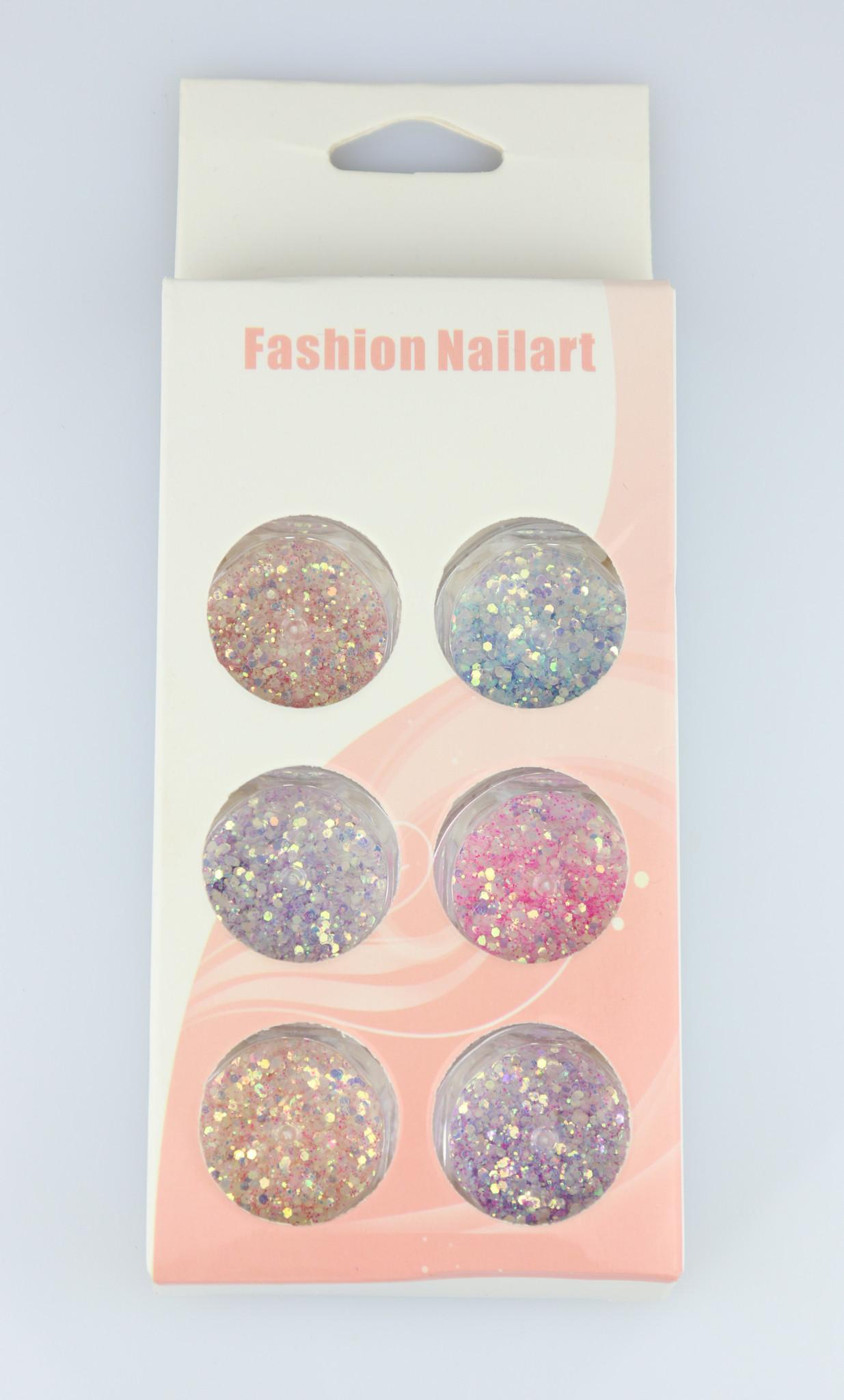 Nailart Glitter Set - 6 stk.-1