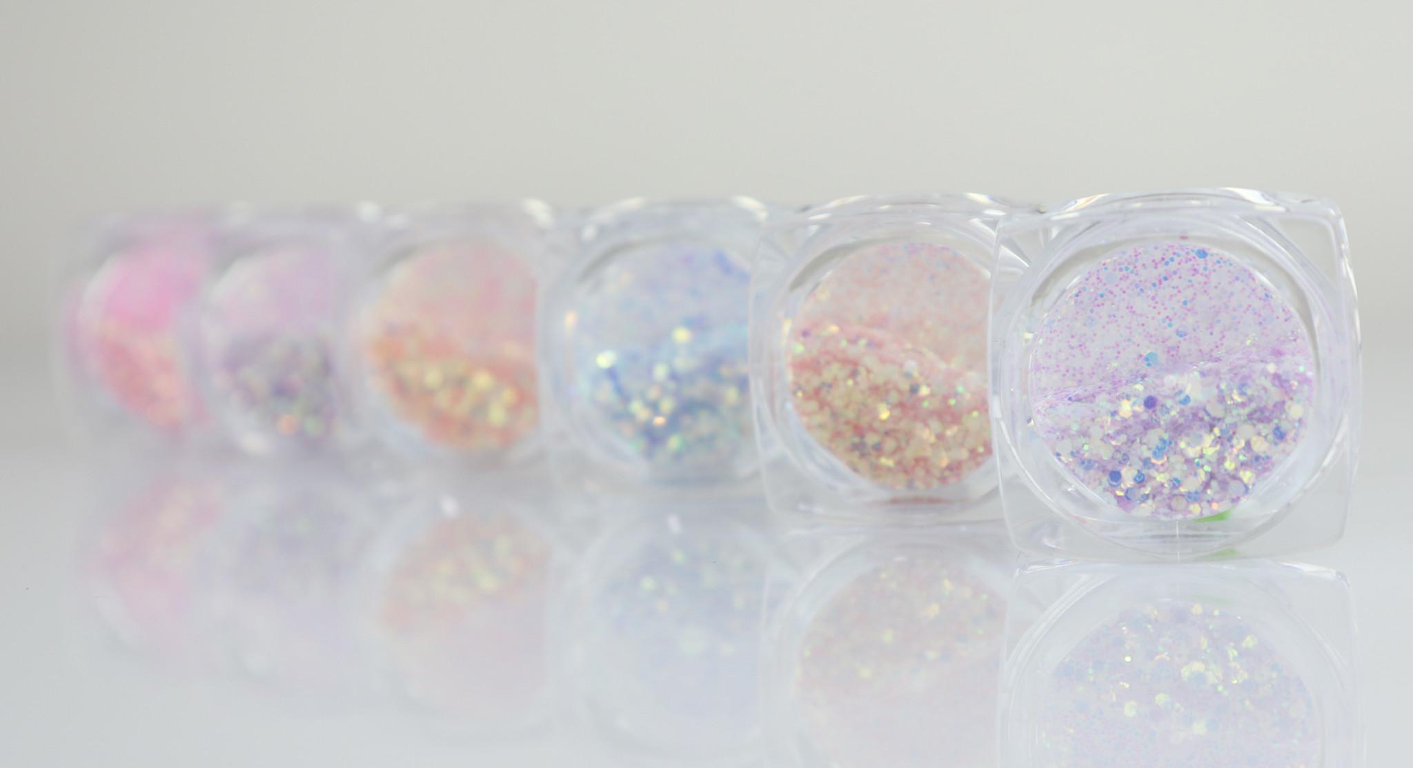 Nailart Glitter Set - 6 stk.-2