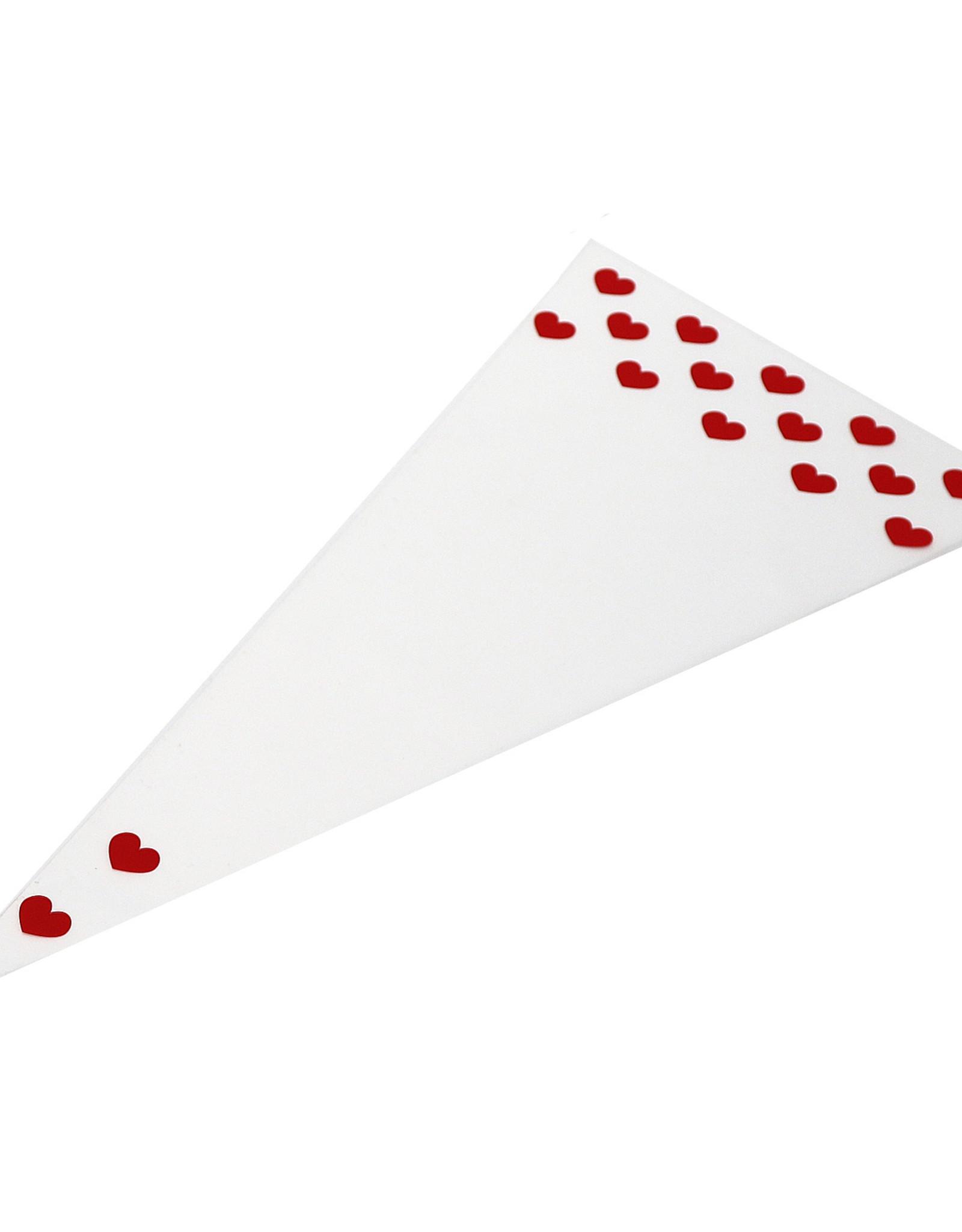 Sachet cone 18x37cm - Coeur