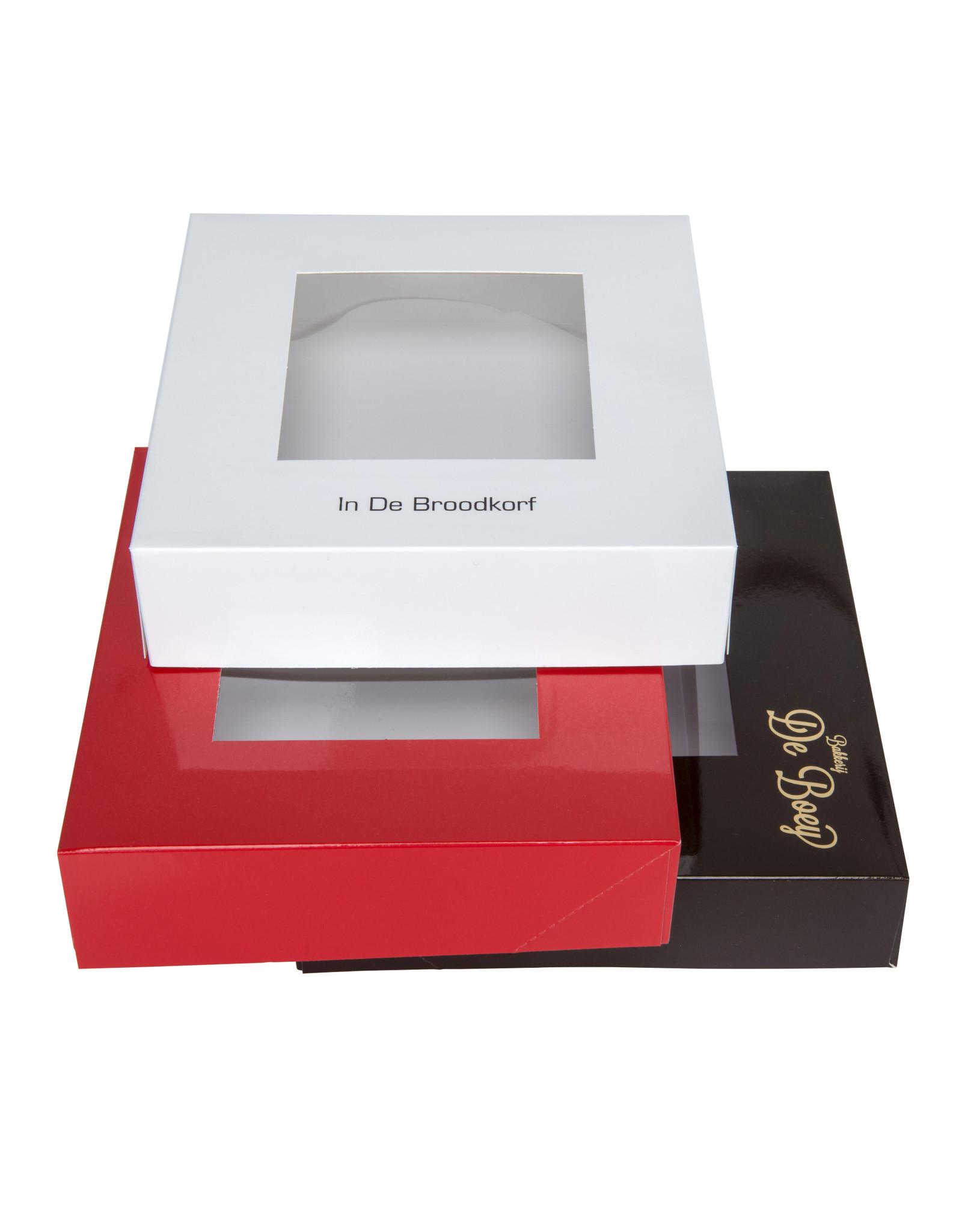 Boîte pâtisserie carré 20x20x5cm