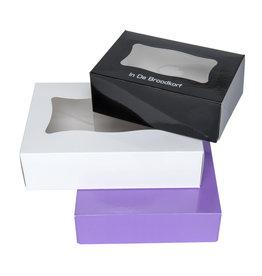 Boîte pâtisserie rectangulaire 20x16x5.5cm