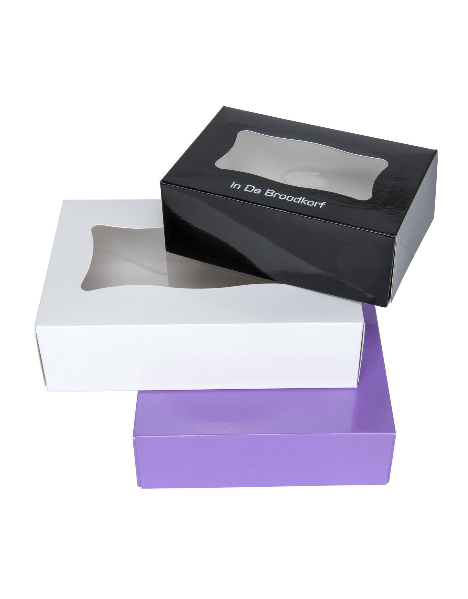 Boîte pâtisserie rectangulaire 20x8x5.5cm