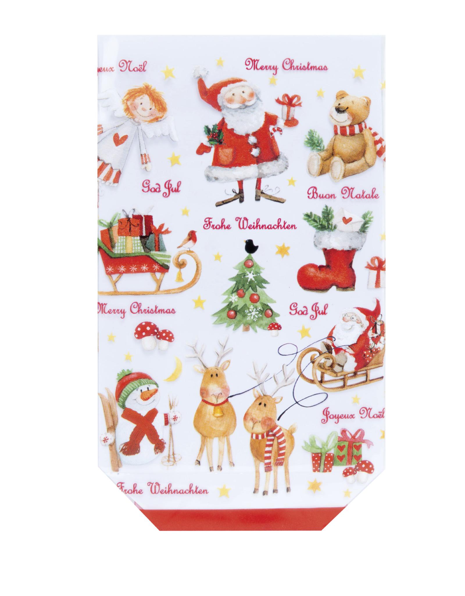 Cross bottom bag D- Christmas