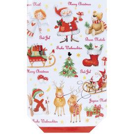 Cross bottom bag D - Christmas