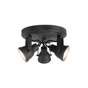 Label51 plafonniere led max 3 lichts zwart