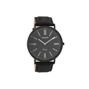 OOZOO horloge vintage zwart zilver C7349