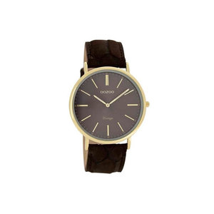 OOZOO horloge vintage bruin C7328