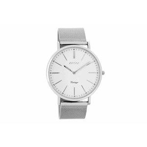 OOZOO horloge vintage zilver/wit C7385