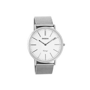 OOZOO horloge vintage titanium wit C7392