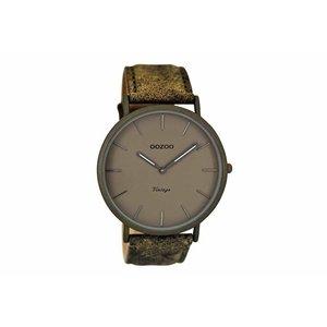OOZOO horloge vintage groen/grijs