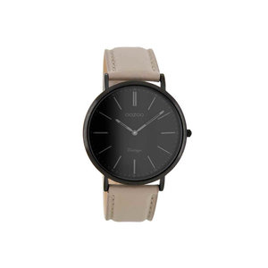 OOZOO horloge vintage taupe/zwart C8152