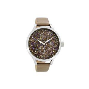 OOZOO horloge taupe sparkle
