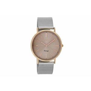 OOZOO horloge vintage zilver/roze C8811