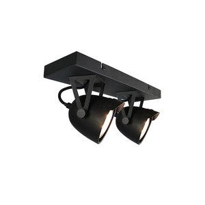 Label51 plafonniere cap 2 lichts zwart