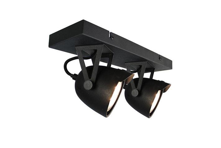 Label 51 Label51 plafonniere cap 2 lichts zwart