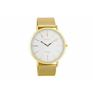 OOZOO Horloge vintage goud staal C7389