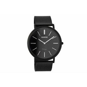 OOZOO horloge vintage zwart zilver C7394