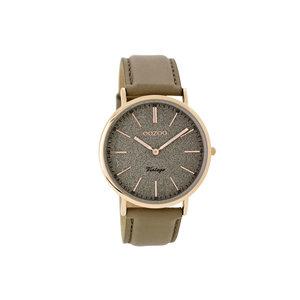 OOZOO Horloge Taupe met goud
