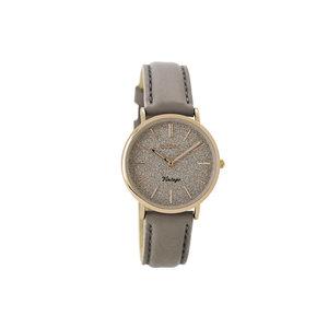 OOZOO Horloge Taupe met goud klein