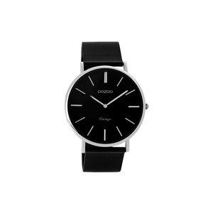 OOZOO Horloge zwart met zilver