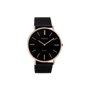 OOZOO Horloge zwart met rosé