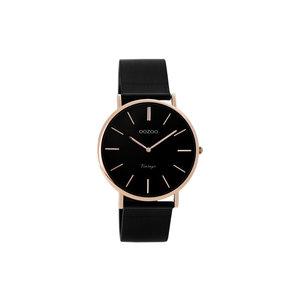 OOZOO Horloge zwart met rosé klein