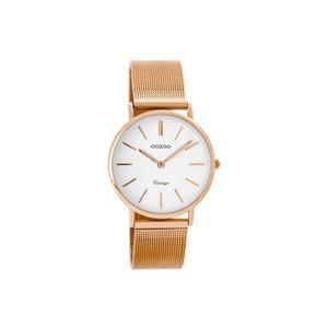 OOZOO Horloge rosé met wit