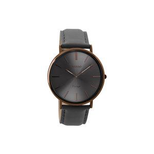 OOZOO Horloge elephantgrey met bruin