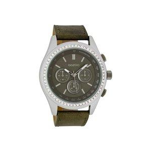 OOZOO Horloge bruin met steentjes C6254