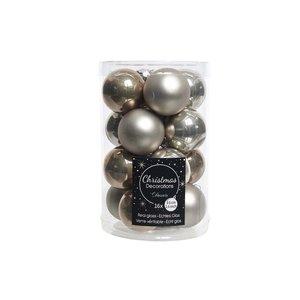 Kerstbal glas mat naturel mix