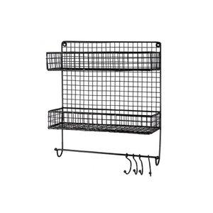 Bastion metal rack black two layers