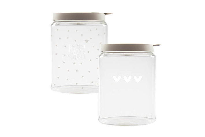 Bastion Collections Bastion Collections storage Glasses White Titane Lid - Small