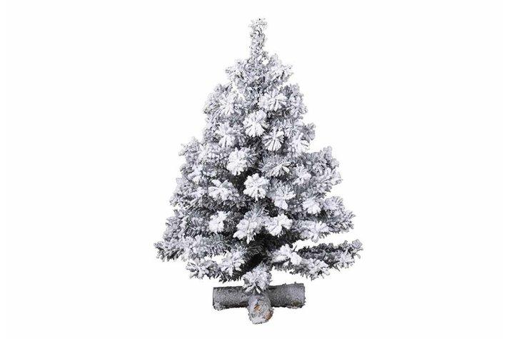 Kerstboom snowy mini 55X90cm groen/wit