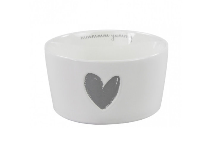 Bastion Collections Bastion Collections bowl 13,5cm white little heart in relief