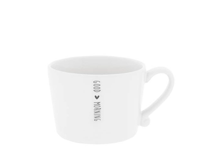 Bastion Collections Bastion Collections Cup White Good Morning In Black