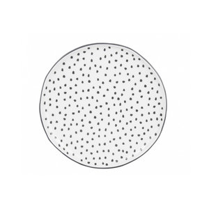 Bastion Collections Desert Plate white dots in grey