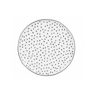 Bastion Desert Plate white dots in grey