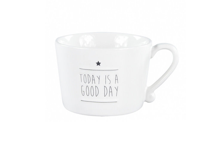 Bastion Collections Bastion Collections mug white today is a good day in black