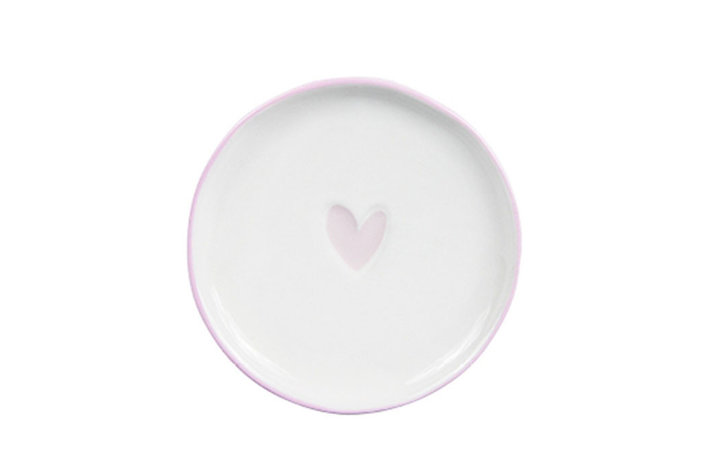 Bastion Collections Bastion Collections teatip 9cm white heart in rose