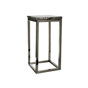 PTMD Marble steel grey sidetable