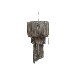 PTMD leather funky grey hanging lamp strokes M