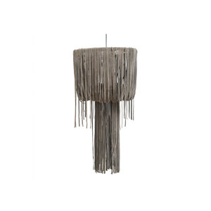 PTMD leather funky grey hanging lamp strokes