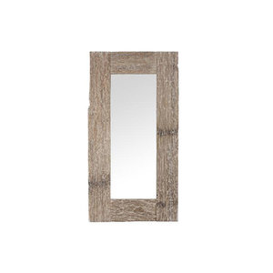 PTMD sal wood white wash rectangle mirror