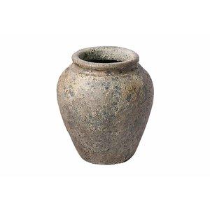 PTMD pot pura bruin aardewerk S